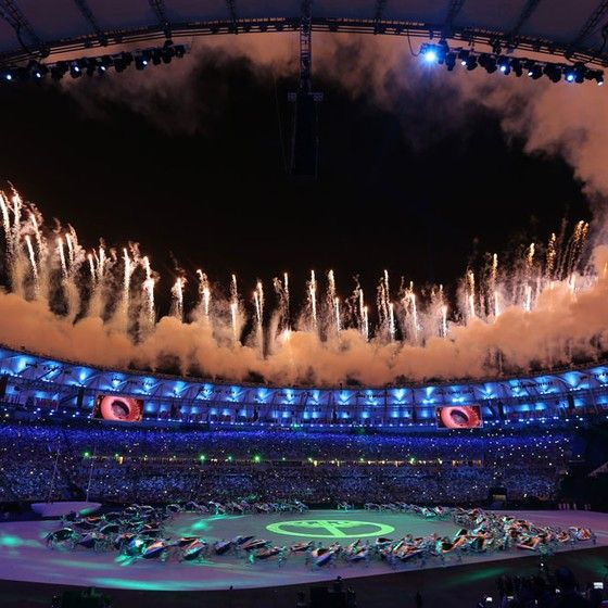 A cerimônia de abertura da Olimpíada Rio 2016 (Foto: Issei Kato / Reuters)