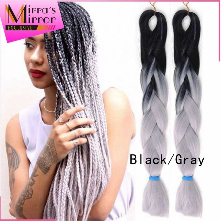 26 best jumbo xpression braid hair images on pinterest hair hair extension micro link on sale at reasonable prices buy ombre kanekalon jumbo braid xpressions kanekalon braiding hair gray jumbo braid hair extensions pmusecretfo Choice Image