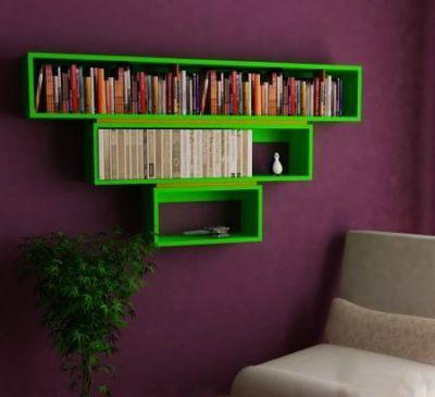 Trigon Yeşil Siyah Kitaplık - NPWFIPVY
