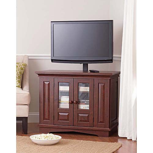 Willow Mountain TV Stand with Mount, Cherry Finish TV Stand, Media Storage TV Stand, Living Room TV Stand, Wooden TV Stand $129