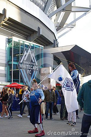 Vancouver Whitecaps FC supporters in front of BC Stadium
