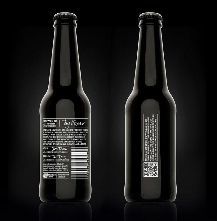 monteith's single sourceBeer Bottle Design, Qr Codes, Beer Packaging, Packaging Design, Beer Bottles, Single Sources, Creative Package Design, Design Website, Design Blog