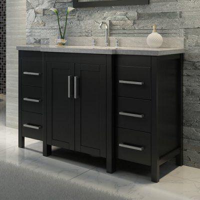 Ariel Hollandale E049S 49 in. Single Bathroom Vanity Set - E049S-BLK