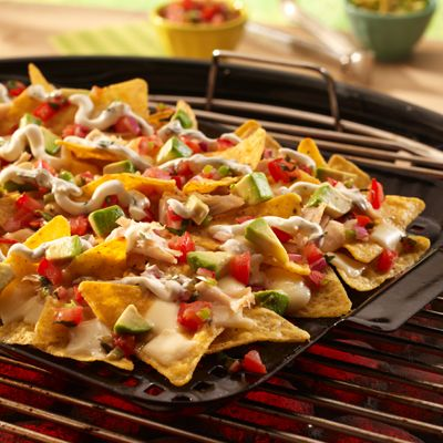 Chicken Nachos on the Grill: Take your nachos outside with this fun version made on the grill.