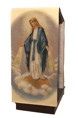 Paño de atril de la Virgen Misericordiosa / Our Lady of Miraculous Medal lectern cover (1/2) http://www.articulosreligiososbrabander.es/cubreambon-con-bordado-en-hilo-de-oro.html
