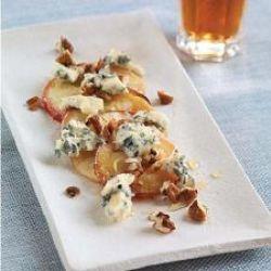 Selbu Blå med ovnsbakte epler, honning og nøtter
