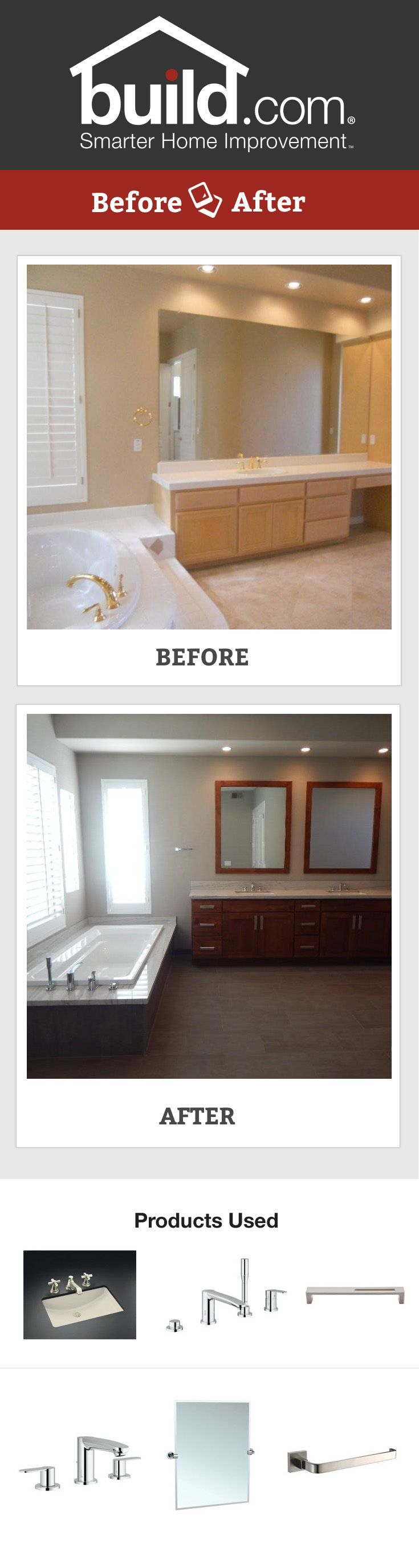 Beautiful Bathroom On A Budget By Affordable Chic Before And After Bathroom Pinterest