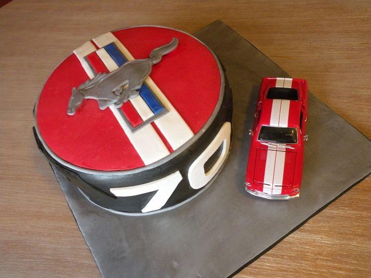 Ford Mustang Birthday Cake