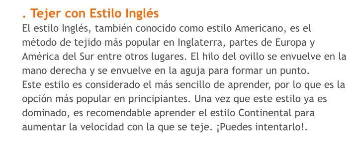 Tejer con estilo inglés o americano (i1)