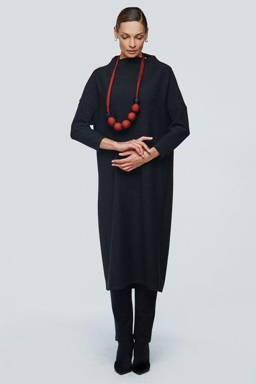 Lesel - Платье хомут прямое соты