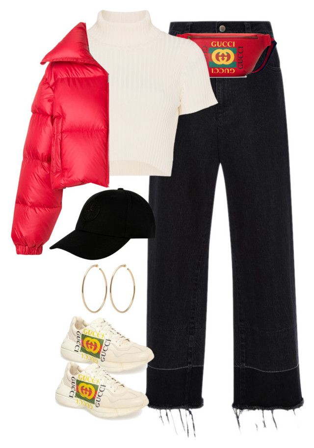 """""""Sin título #1437"""" by osnapitzvic ❤ liked on Polyvore featuring Rachel Comey, Gucci, Staud, MISBHV and STONE ISLAND"""