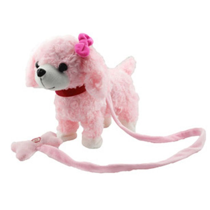 New arrival Musical Electronic pet Dog Toys For Children leash dog called electric dance music plush