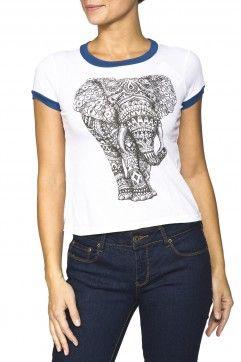 Girls 'Elephant' Graphic Tee