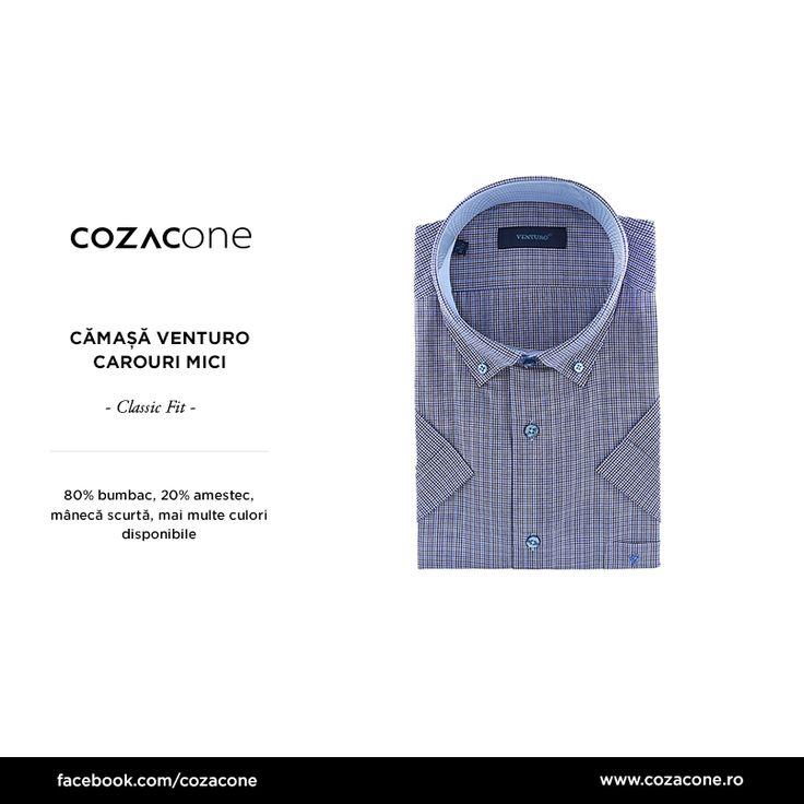 """O cămașă cu mânecă, care să meargă la orice, e un """"must"""" pentru vara aceasta! http://www.cozacone.ro/produse/detalii/camasa-carouri-mici/"""