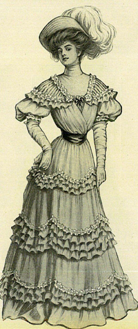 VICTORIAN HATS ANTIQUE EPHEMERA 1907 Victorian Women's