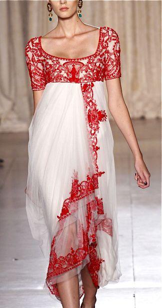 Marchesa RTW Spring 2013-Modern Jane. Reminds me of England Regency Era dresses