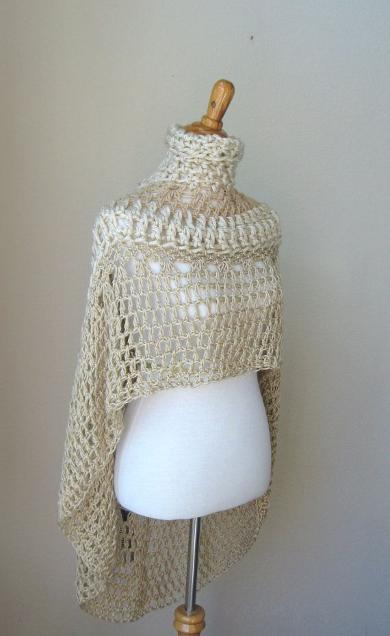 Knitting Pattern Turtleneck Capelet : 113 best images about Crochet - Ponchos & Capes on Pinterest Free patte...