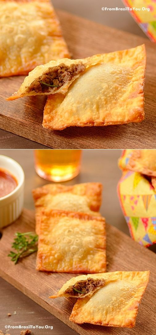 Fiesta de Reyes / Dia de los Reyes / Three Kings Day -- special treats -- Empanada Cheat -- QUICK fried empanadas made with wonton wraps