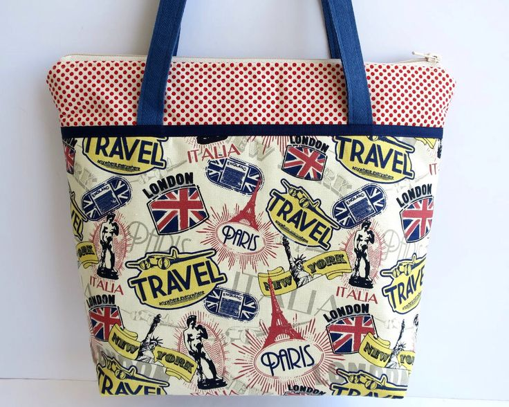 Travel Bag, Women's Handbag, Shoulder Bag, London Bag, Paris Bag, New York Bag, Bon Voyage, Travel Gifts, Wanderlust, Gift for Traveller by RachelMadeBoutique on Etsy https://www.etsy.com/au/listing/559509710/travel-bag-womens-handbag-shoulder-bag