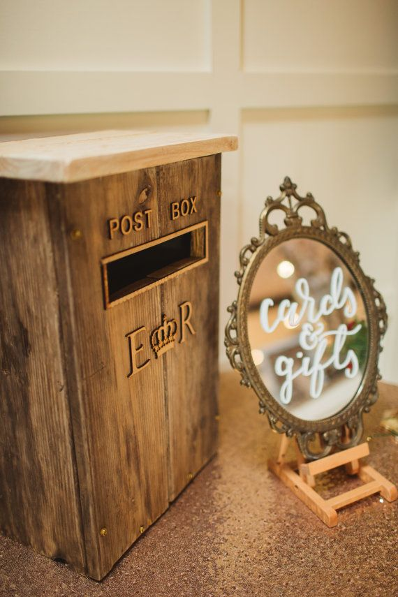 Vintage Rustic Wooden Wedding Postbox by rusticweddingstyling