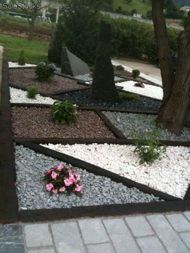 17 best images about ideas para el jardin on pinterest for Jardines decorados con piedras