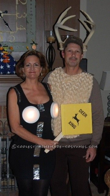 Deer Caught In Headlights Couple Costume... Coolest Homemade Costumes