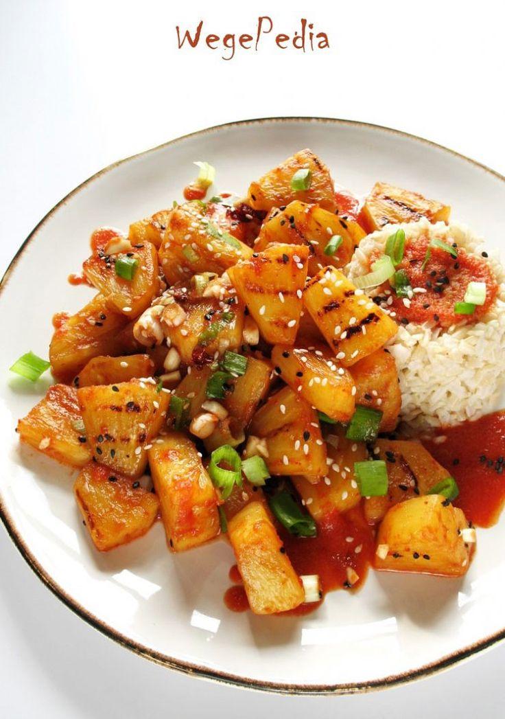Smażony lub grillowany ANANAS w sosie chili – fit!