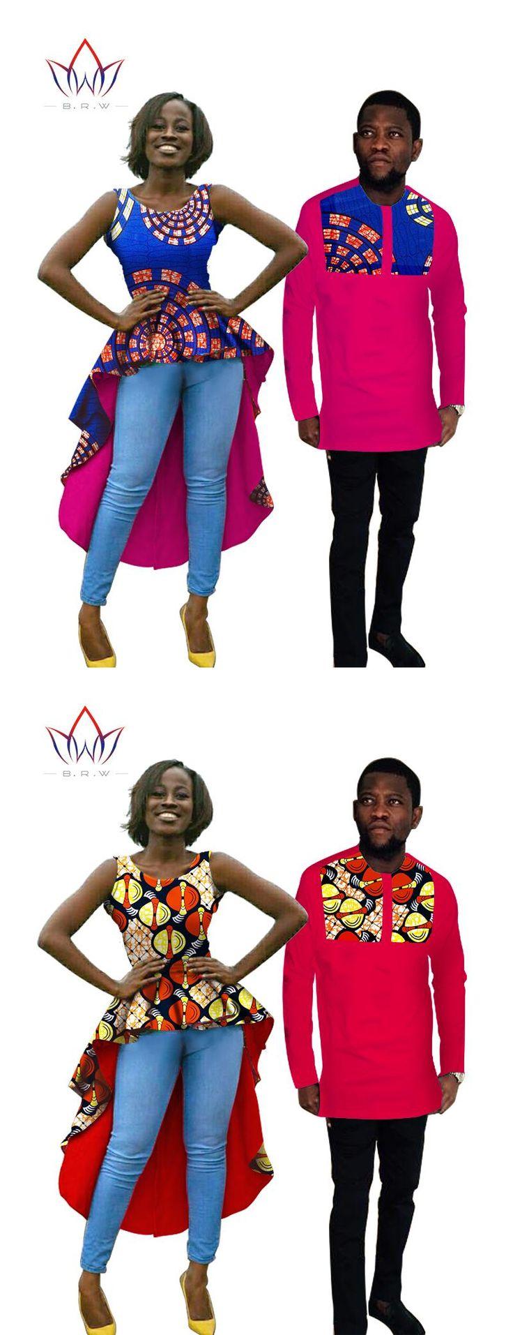 Hot Sale Couple Clothes Women Men Dress  traditional african clothing Dress Shirt afrikaanse kleding voor vrouwen bazin BRWYQ03