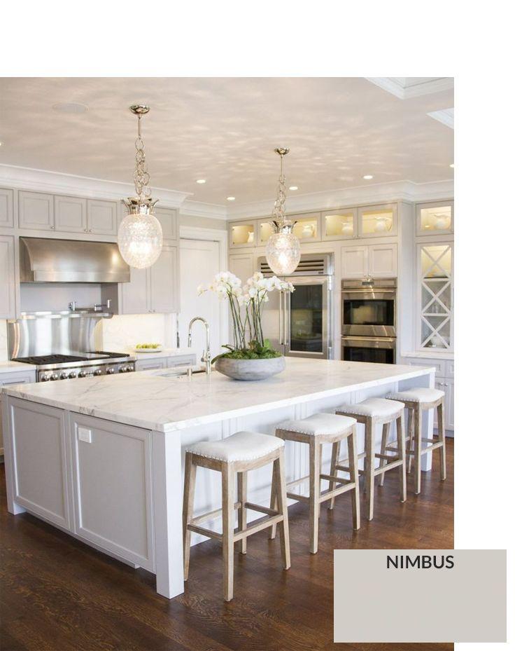 Ben-Moore-Nimbus Gray Cabinet Paint Colors