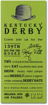Kentucky Derby Party Invitations and Ideas from TheInvitationShop.com