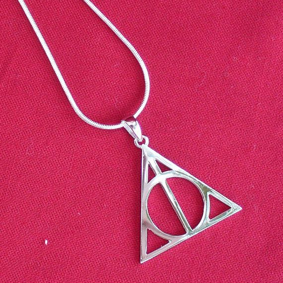 Harry Potter Deathly Hallows necklace by oldjunkyardboutique, $29.99
