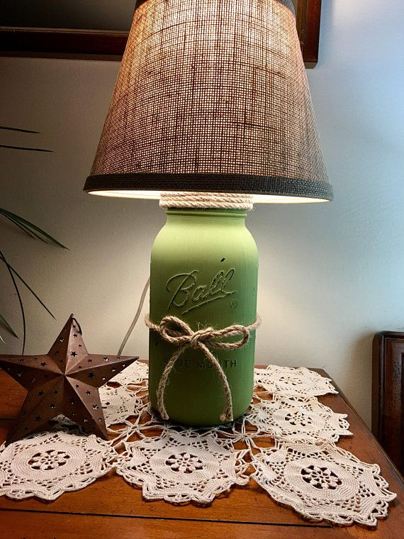 Mason Jar Lamp Table Lamp Country Rustic Primitive House Warming Gifts Lamp Lighting Table To Products Mason Jar Lamp Mason Jars Table Lamp