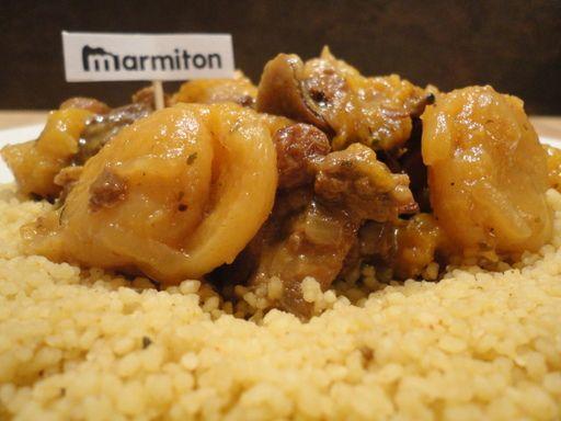 Tajine d'agneau aux abricots (Maroc) - Recette de cuisine Marmiton : une recette