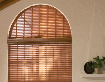 Find This Pin And More On Semi Round Window Covering Arch Covered With A Wood Blind
