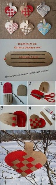 DIY Crossed Heart Ornament DIY Projects