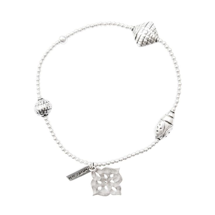Thai Princess Stretch Charm Bracelet in Sterling Silver. Shop The Collection at www.murkani.com.au