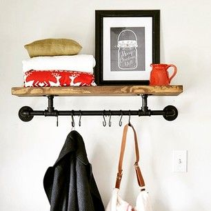 Need some extra storage? This #DIY coat rack by @beneathmyheart is an easy weekend project!