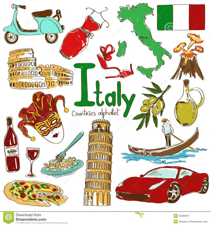 collection-italy-icons-fun-colorful-sketch-countries-alphabet-42368197.jpg (1300×1390)