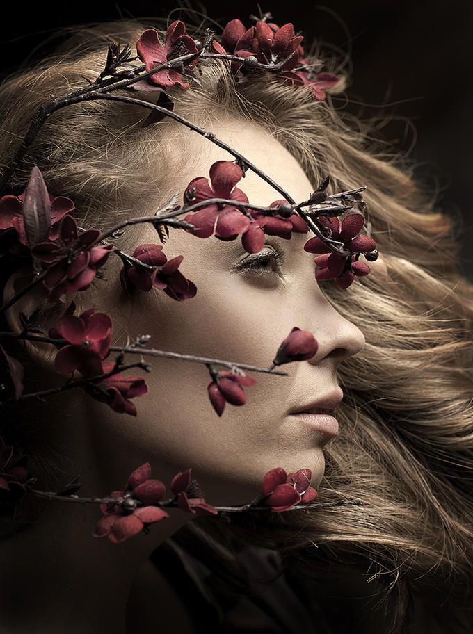 Tocado de flores diferente