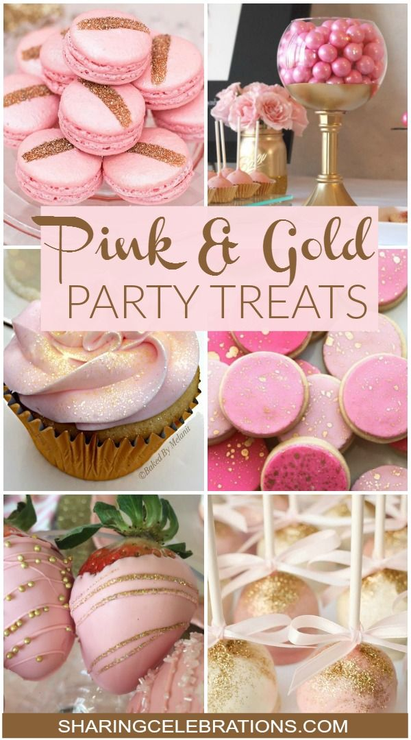 Pink Gold Party Treats So pretty party pink goldhttp