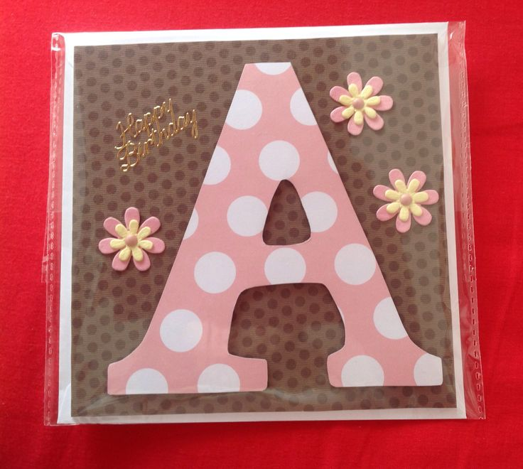 #Card #cards #spots #lightpink #Acard #letter #lettercard #flowers #brown #pretty #namecard #happybrithdaycard #happy #brithday #happybrithday