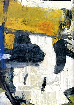 Willem de Kooning: Easter Monday, 1955/56. Oil and newspaper transfer on canvas. MoMA.