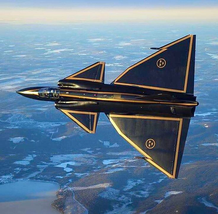 Swedish Air Force J-37 Viggen.