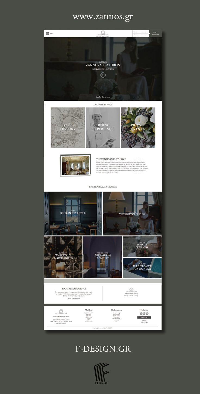 The legendary Zannos Melathron Hotel's website by F- Design at www.zannos.gr. #santorini #website #web #webdesign #design #hotel