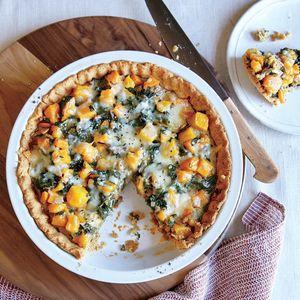 Butternut Squash and Swiss Chard Tart with Olive Oil Crust Recipe | MyRecipes.com