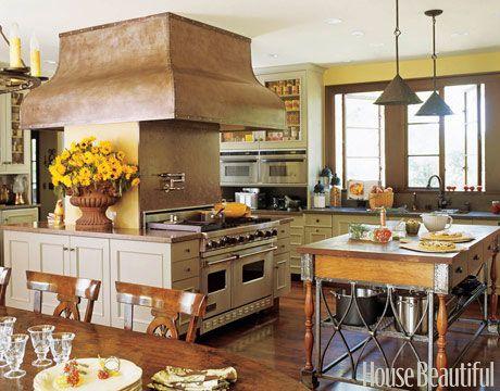 Yellow California Kitchen. Design: Sandra Bird. housebeautiful.com