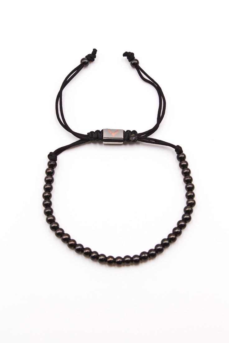 Black Stainless Steel 4mm Bracelet