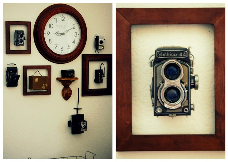 ideas for displaying my vintage camerasDecor, Display Vintage Cameras, Vintage Wardrobe, Awesome Ideas, Fun Things, Display Ideas, Wall Display, Cameras Display, Art Walls