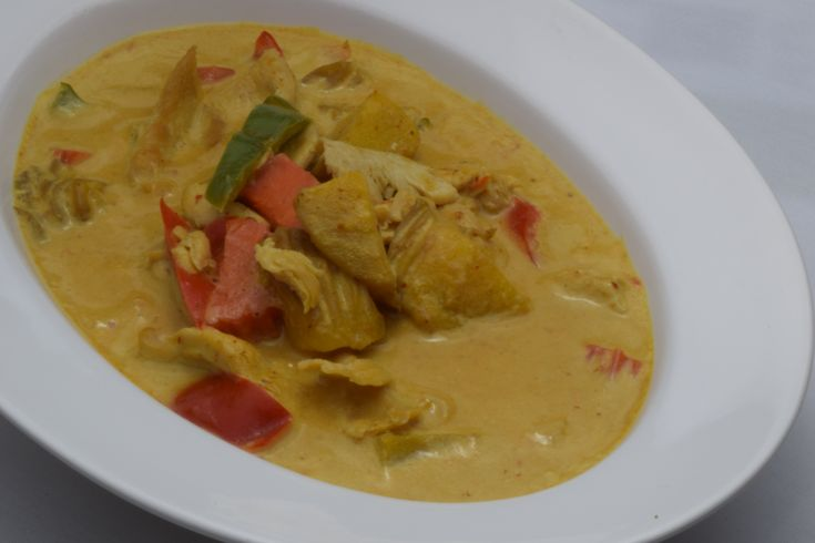 Mango Curry (fresh mango, bell pepper, and carrots slowly cooked in mild curry sauce)