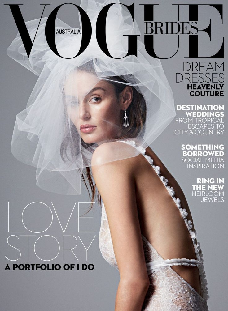 First look: Nicole Trunfio covers the 2016 issue of Vogue Brides